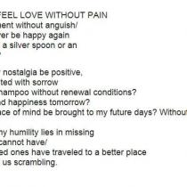 Can I Feel Love Without Pain